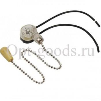 Выключатель бра на цепочке хромированный оптом OM-E95