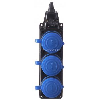 Колодка электрическая премиум IP-44 оптом OM-E87