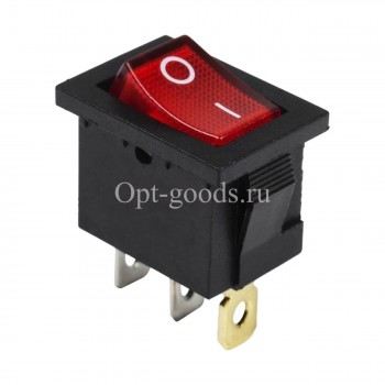 Выключатель клавишный узкий оптом OM-E171