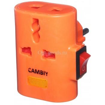 Тройник переходник Camry с выключателем оптом OM-E141