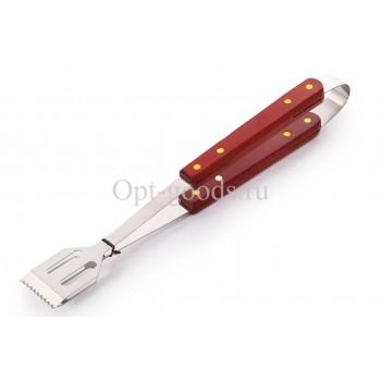 Щипцы для барбекю с деревянной ручкой 27 см оптом SM-X1415