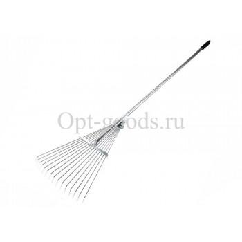Грабли веерные раздвижные 15 зубьев с металлической ручкой оптом OM-X334