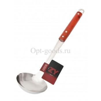 Половник с деревянной ручкой 34 см оптом SM-X262