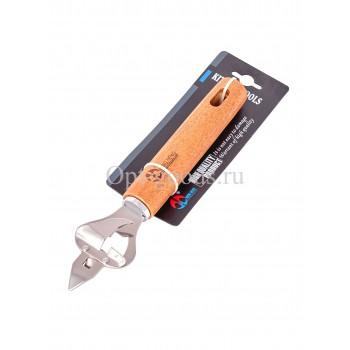 Открывалка для бутылок с деревянной ручкой 20 см оптом SM-X396