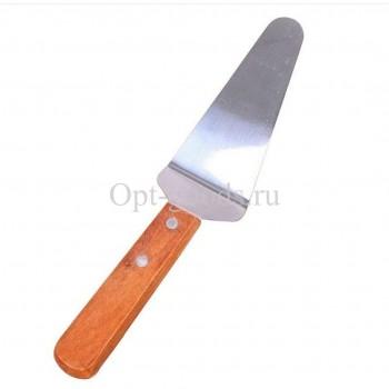 Лопатка с деревянной ручкой 28 см оптом SM-X1510