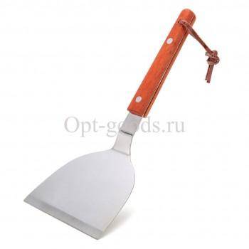 Лопатка с деревянной ручкой 10х24 см оптом SM-X1503