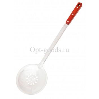 Шумовка с деревянной ручкой 47 см оптом SM-X304