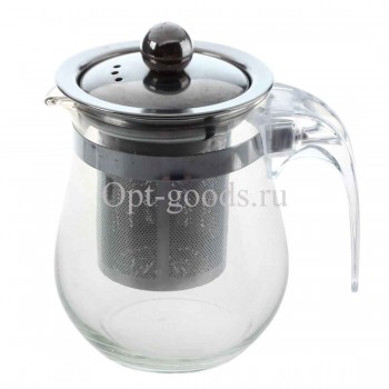 Заварочный чайник стеклянный 1 л оптом SM-X1220