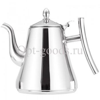 Заварочный чайник металлический 1,5 л оптом OM-X535