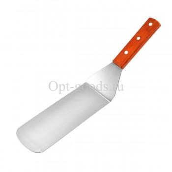 Лопатка с деревянной ручкой 35 см оптом SM-X1504