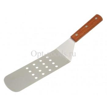 Лопатка с деревянной ручкой 28 см оптом SM-X1516