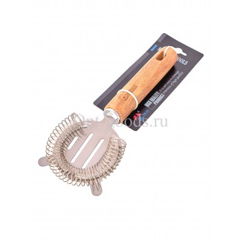 Венчик для взбивания спиральный с деревянной ручкой 22 см оптом SM-X391