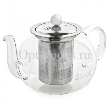 Заварочный чайник стеклянный 400 мл оптом OM-X553