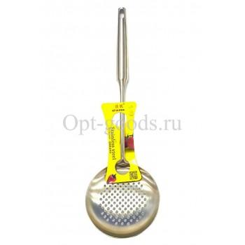 Шумовка металлическая 37 см оптом SM-X249