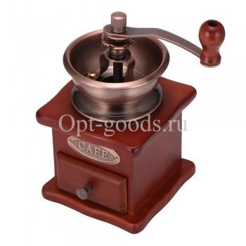 Ручная кофемолка деревянная оптом OM-X546