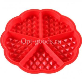 Силиконовая форма для вафель 18 см оптом SM-X954