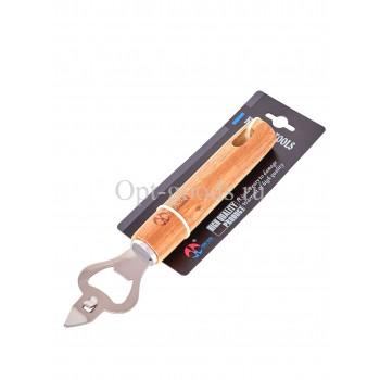 Открывалка для бутылок с деревянной ручкой 19 см оптом SM-X395