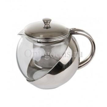 Заварочный чайник стеклянный 1100 мл оптом SM-X1541