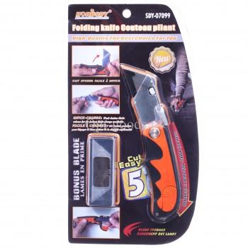 Строительный нож со сменными лезвиями 18 мм оптом OM-X297