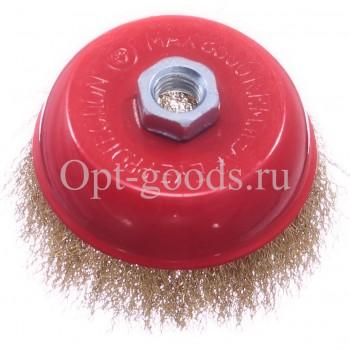 Щетка чашка для ушм мягкая 75 мм оптом OM-X131